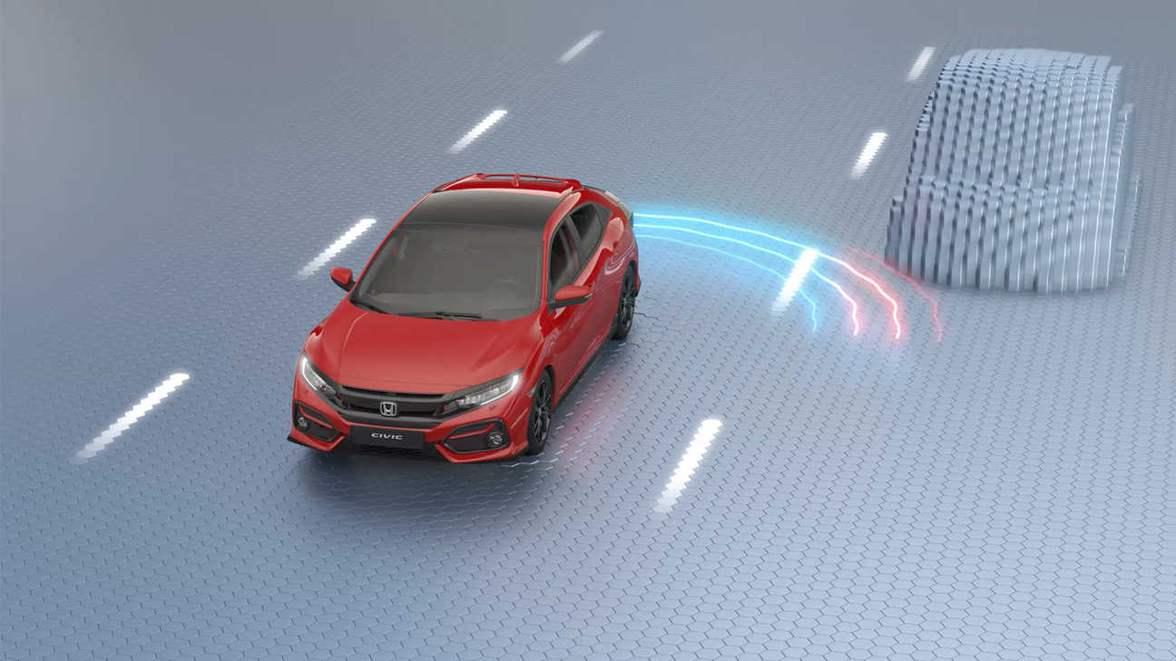 Honda Civic i virtuelt studio