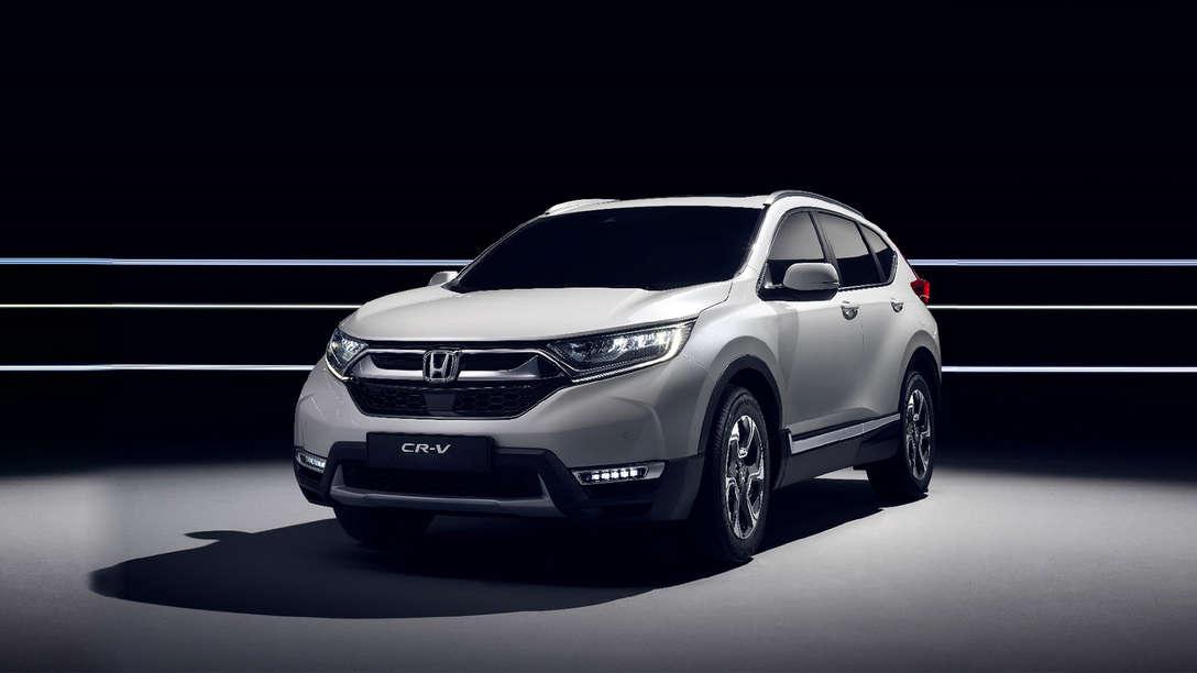 Honda CR-Vs avanserte hybride drivverk sett fra siden.
